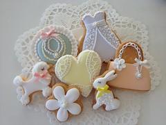 sugar cookies (Cbonbon.cookie) Tags: bag cookie heart accessories