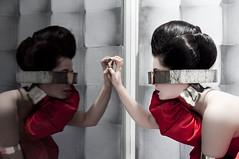 Ofelia (Barbara Snchez) Tags: red fashion rojo dress moda fantasy fantasia vestido alexandermcqueen