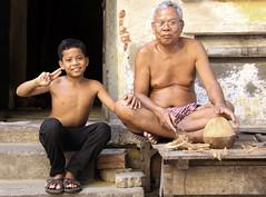 Father and son (martien van asseldonk) Tags: boy man cambodia phnom penh martienvanasseldonk