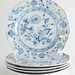 200. Set of (5) Blue Onion Porcelain Plates