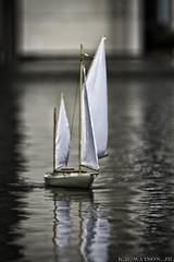 Calm Seas (K.R. Watson Photography) Tags: reflection water sailboat toy model sail beyondbokeh