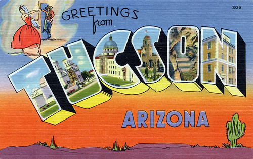 Greetings from Tucson, Arizona - Large Letter Postcard