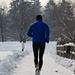 Running on the snow