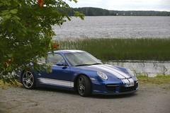 "997 turbo - 021 (Erkka Suominen) Tags: ""cobalt blau porsche"" blue ""bridge gantry"" nürburgring ""porsche 911 turbo"" ""911 ""997 ""pwr700"" ""evoms evt775"" ""evt775"" ""nürburgring bridge pccb"