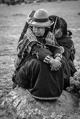 Not waitin' for a train... (richardhasler) Tags: kids ropatipica work fixing challhuahuacho apurimac peru