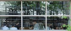 School Children (Erica Lowenkron) Tags: highline chelsea nyc newyorkcity newyork window windows children kids school lunchtime reflection