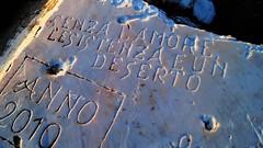 Senza l'Amore l'esistenza è un deserto. (BarbaraBonanno BNNRRB) Tags: senza lamore lesistenza è un deserto stone written write writer scoglieradellamore scritta scritto scogliera marinadimassa mare massa toscana sign dellamore bnnrrb