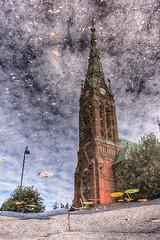 IMGP5494_HDR-2 (jarle.kvam) Tags: church trinity tefoldighetskirken arendal norway speiling regnvr rain reflection kirke city