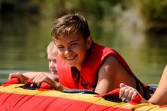 pierce is ready to tube! (Sam Scholes) Tags: family reunion tubing fun child smiling kid smile tube snake river sunrise priver ranch rupert idaho boy familyfun familyreunion snakeriver sunrisepriverranch