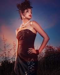 """Phoebe""  (sandys eyecatcher) Tags: model fierce posing bluesky concept colorful style fashion portrait portraiture canon offcameraflash beautiful sexy glamour asian photoshoot woman"