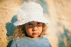 Girl With a Hat (mravcolev) Tags: summer portrait sunset naturallight girl child hat sunlight serious canoneos5dmarkii 5dmkii 35l canonef35mmf14lusm
