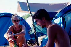 Camping, beers, friends and music. (Emma.derancy) Tags: olympus om1 kodak ektar 100 film analog 35mm