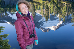 On Assignment (Tom Fenske Photography) Tags: jeffersonpark girl woman portrait wet reflection water lake mountain smile outdoors nature wilderness