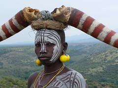 Mursi Woman (Ethiopia) (davidevarenni) Tags: etiopia ethiopian mursi tribe trib