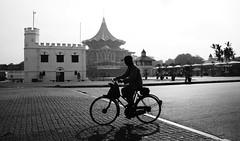 Morning Bike Ride (kieronjameslong) Tags: bicycle bikeride bicycleride oldman morning silhouette kuching sarawak malaysia borneo asia fareast waterfront street streetphotography reallife man exercise leisure recreation recreational