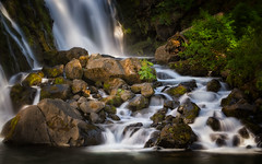 Detail, Middle McCloud Falls (PrevailingConditions) Tags: mccloudfalls water waterfall shasta ca california landscape rocks trees dappled light