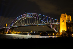 Vivid Sydney 2016 (PJ Reading) Tags: sydney harbour tourist toursim famous vivid light festival 2016 pretty beauty colours colourful festive cbd sydneyharbour water waterway night evening sky cityscape city skyline bridge sydneyharbourbridge harbourbridge