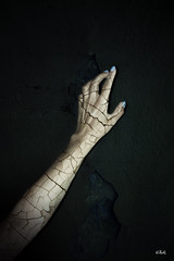 Resurrection (chyky9) Tags: nikon nikond3200 nikonistas darkness dark hand arm cracked lights died photography photo green fear save help