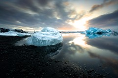 Glacier Lagoon VI (TXA Photography) Tags: vatnajokull vatnajokullnationalpark glacier glacierlagoon sky clouds sunset ice iceberg seascape landscape iceland icelandphototours longexposure leefilter colours reflection europe travel canon canon5d canon5dmkiii january winter