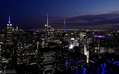 Top of the Rock Blue View (Karl Snell) Tags: topoftherock empirestate holiday blue nightscape nyc usa
