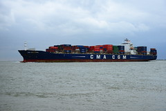 CMA CGM Coral DST_5150 (larry_antwerp) Tags: container cmacgmcoral cmacgm 9350393 schip ship vessel        schelde     walsoorden netherlands nederland