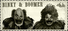 Binky and Boomer (Studio d'Xavier) Tags: werehere winkwink binky boomer clowns clown circus wink coulrophobia 365 september72016 251366