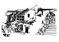 Streets two (Thisisanwar) Tags: anwar artist cartoonist illustrator india hyderabad nandyal noonepalli telugucartoonist teluguillustrator telugubomma bapu bali chandra gopi mohan sketchingartist linedrawing sketchbook howtodraw