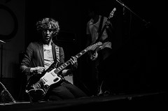 Guitar Vanish (A. David de la Rosa) Tags: guitar singer band concert bnw flick