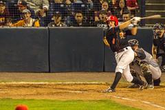 Strike 3! Keep your eyes open! (WarpFactorEnterprises) Tags: baseball canont4i minorleague natbaileystadium salemkeizer summer2016 tamron150600mm vancouvercanadians game