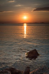 First step to a dream (Anthony Plancherel) Tags: erdek places seascape sunset time travel turkey turkiye evening sea rocks bay water marmarasea waves ripples goldenrays goldenwaves goldenhour golden sky clouds islands sunstar travelphotography canon1585mm canon70d canon outdoor landscapephotography landscape
