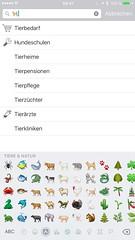 Wohin? Emoji-Suche