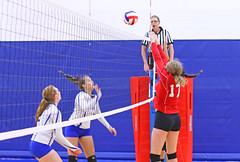 IMG_2367 (SJH Foto) Tags: net battle spike block action shot jump midair girls volleyball high school pleasant valley pa pennsylvania team tween teen teenager jv tournament burst mode