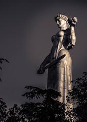 Mother of Georgia, Tbilisi (DingoShoes - life's a dream) Tags: motherofgeorgia tbilisi georgia beautiful memories nikond7000 afsnikkor18105mm13556ged bw toning blackandwhite monochrome kartlisdeda