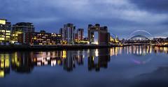 Newcastle Quayside (RichySum77) Tags: newcastle gateshead uk nightscape landscape tyne river