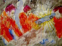 The Elves Of Anaheim: 2 (giveawayboy) Tags: pen crayon drawing sketch art acrylic paint painting fch tampa artist giveawayboy billrogers elf elves anaheim racing racecars mechanics urbanlegend elvesofanaheim