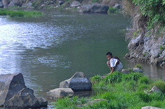 Fishing Kids (ahtuck) Tags: anak danau segara
