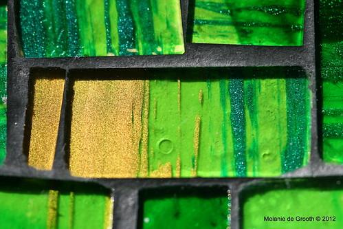 Green Gold Mosaic Tile