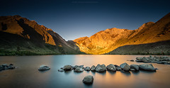 Sunrise at Convict Lake (Zolashine) Tags: california longexposure travel usa sunrise landscape unitedstates unitedstatesofamerica mammothlakes sierranevada easternsierra convictlake nikond4 zolashine pichayaviwatrujirapong