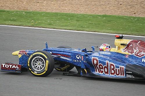 Sebastian Vettel's Red Bull at Silverstone
