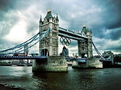 Tower Bridge with Olympic Logo