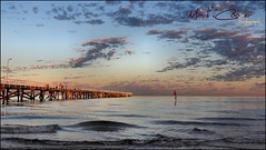 Semaphore SA (Mark-Cooper-Photography) Tags: ocean morning light sea beach water up clouds sunrise canon pier stand jetty board south paddle australia adelaide sa semaphore 24105mm 550d ef24105l t2i eos550d markcooperphotography