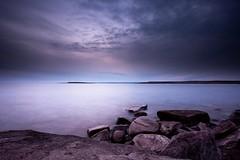 From The Clouds (Digital Rebel) Tags: ocean sunset clouds rocks quebec atlantic lourdesdeblancsablon