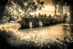 Old Dee Bridge in Chester (Infrared & HDR) (Mark Carline) Tags: old bridge red ir photographer cheshire chester dee infra hdr advanced