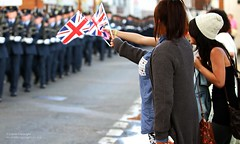 People Waving Flags as RAF Benson Takes Part in Freedom of Wallingford Parade (Defence Images) Tags: uk people freedom town military union ceremony free flags british waving defense defence cheering wallingford raf personnel ceremonial royalairforce nonidentifiable