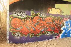 """Rare kind"" (MR. NIC GUY ^.^) Tags: california streetart art graffiti losangeles paint rip culture rail spray mc crew heads ya ventura rk masen"