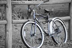 Bicycle_1 (Rameshj) Tags: blue bw color bike bicycle photography blackwhite shot single sw arkansas colorsplash blueblack colorkey