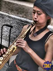 Street Performer (IDAPhotography at Thee-Gartisan Works) Tags: street new york city nyc art musicians museum guitar met performers sax metropolitan saxophone metropolitanmuseum
