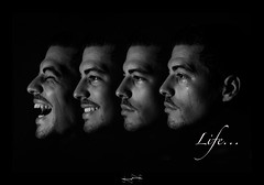 life ('^_^ D.F.N. Damail ^_^') Tags: life vacation portrait people blackandwhite favorite white selfportrait black france art canon studio french geotagged photography photo blackwhite reflex europe gallery photographie autoportrait noiretblanc photos smoke flash picture nb smoking fave lumiere passion capitale iledefrance blanc franais homme vie francais artiste 70200mm fumer artistique photographe favoris fum dfn 5dmarkii wwwdamailfr