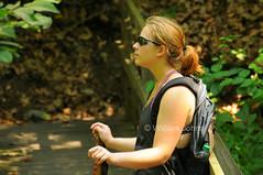 Rhonda (Throwingbull) Tags: bridge woman creek happy foot healthy women footbridge hiking pennsylvania portait 14 scenic hike falls pa trail national rhonda hiker hikers appalachian section gettypotential
