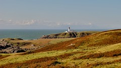 Lighthouse from Ouchtriemakain Moor (Jani Helle) Tags: lighthouse scotland portpatrick dumfriesandgalloway portphdraig september2011 killantringanlighthouse southuplandway ouchtriemakainmoor